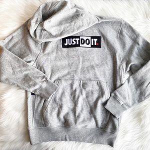 "Men's Nike ""Just Do It"" Pullover Gray Sweatshirt"